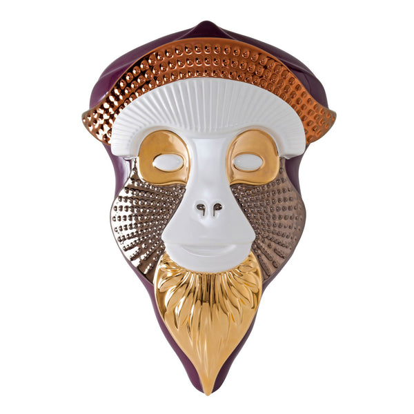 Bosa Primates 'Brazza' Mask by Elena Salmistraro Blueberry / White