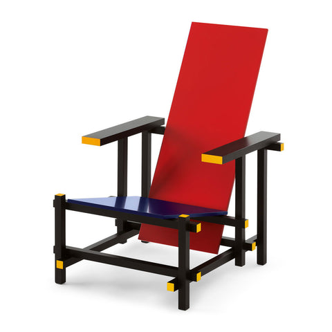 Cassina 635 Red And Blue Chair Front