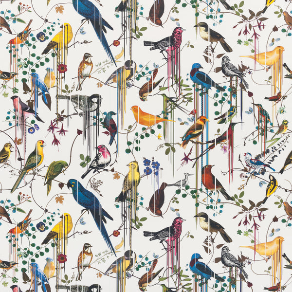 Christian Lacroix 'Birds Sinfonia' Fabric Perce Neige