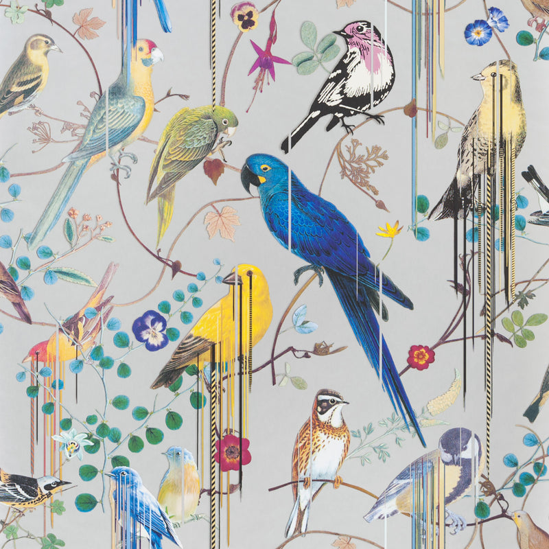Christian Lacroix 'Birds Sinfonia' Wallpaper Argent