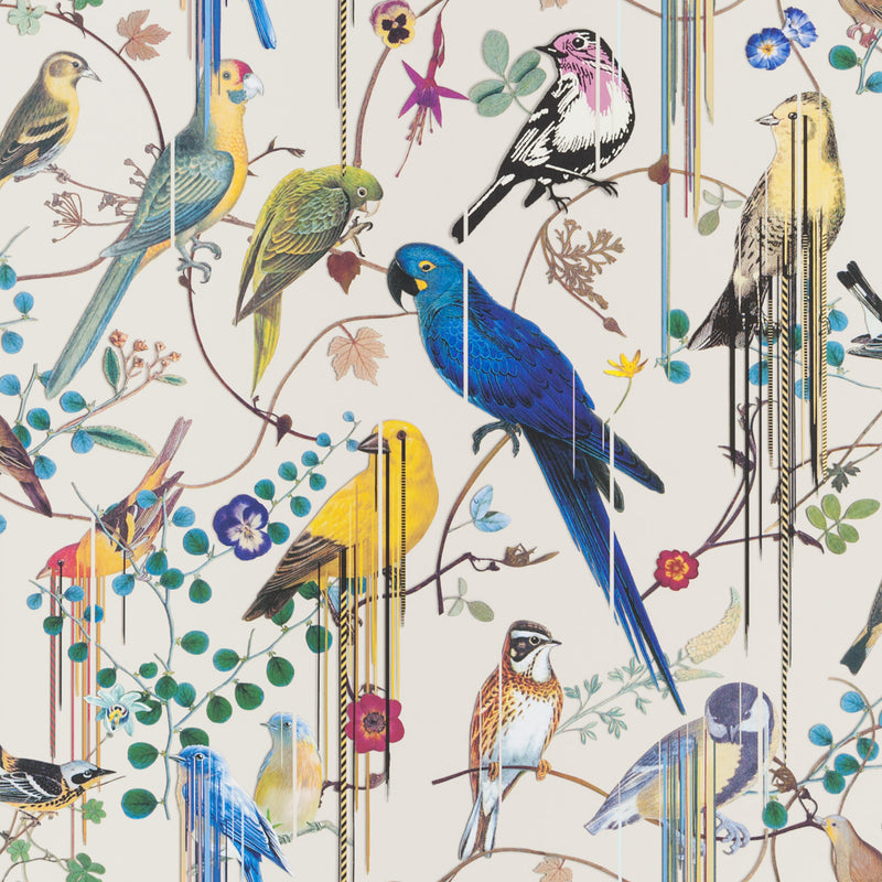 Christian Lacroix 'Birds Sinfonia' Wallpaper Jonc