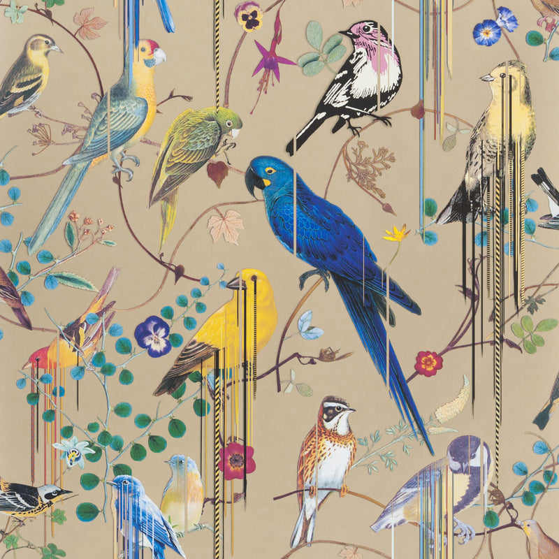 Christian Lacroix 'Birds Sinfonia' Wallpaper Or