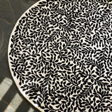 Christian Lacroix Bosquet Carbone Round Rug Roomset