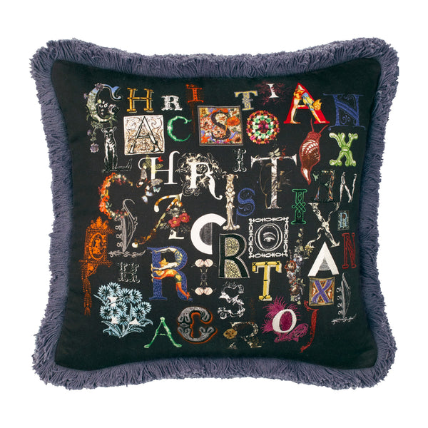 Christian Lacroix 'Do You Speak Lacroix?' Multicolore Cushion Front