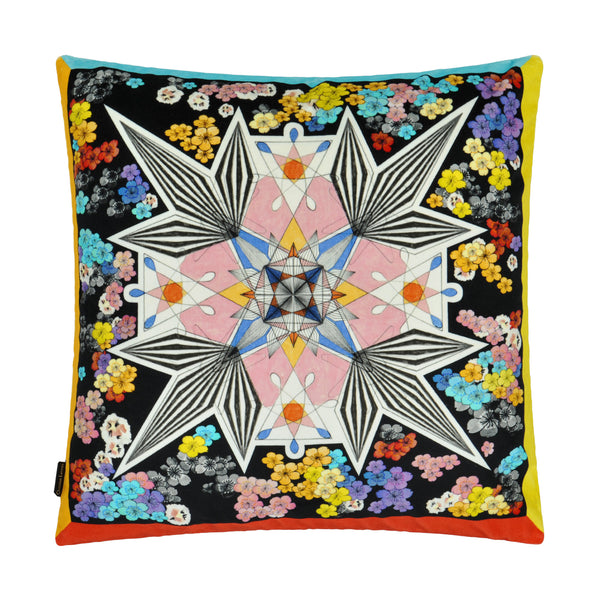 Christian Lacroix 'Flowers Galaxy' Multicolore Cushion Front