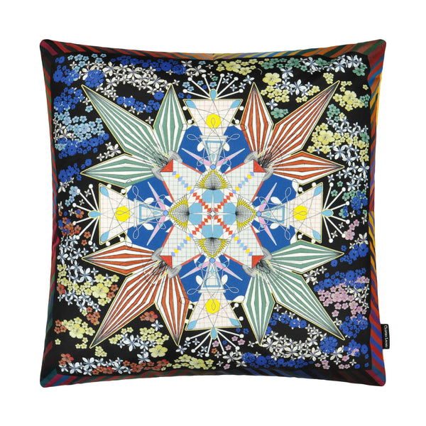 Christian Lacroix 'Flowers Galaxy' Multicolore Cushion Reverse