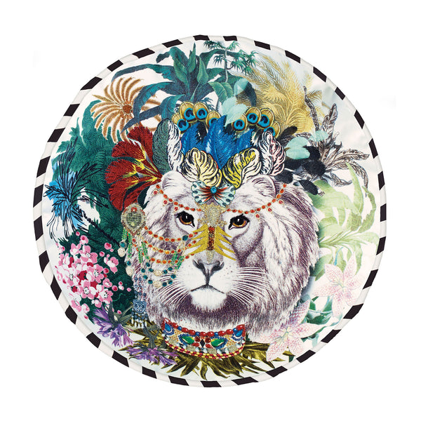 Christian Lacroix Jungle King Opiat Cushion Front