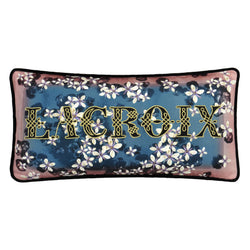 Christian Lacroix 'Lacroix Cherry' Bleu Denim Cushion Front