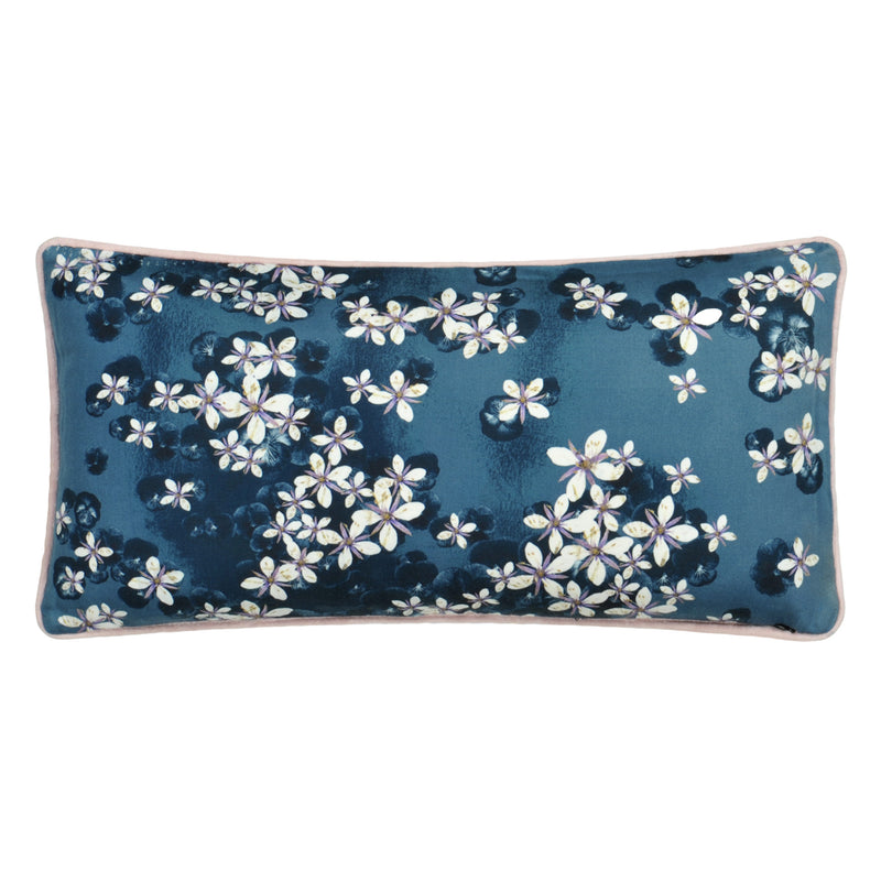 Christian Lacroix 'Lacroix Cherry' Bleu Denim Cushion Reverse