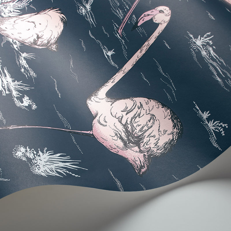 Cole and Son 'Flamingos' Wallpaper 112/11041 Detail