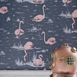 Cole and Son 'Flamingos' Wallpaper Roomset Detail