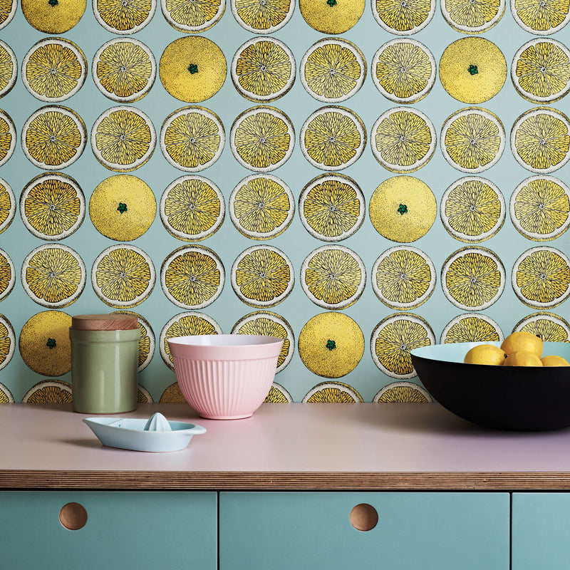 Cole and Son Fornasetti 'Arance' Wallpaper 114/24047 Roomset