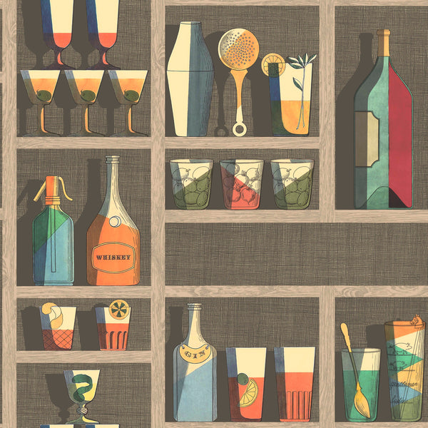 Cole and Son Fornasetti 'Cocktails' Wallpaper 114/23043