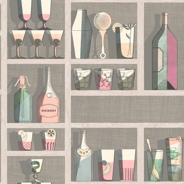 Cole and Son Fornasetti 'Cocktails' Wallpaper 114/23044