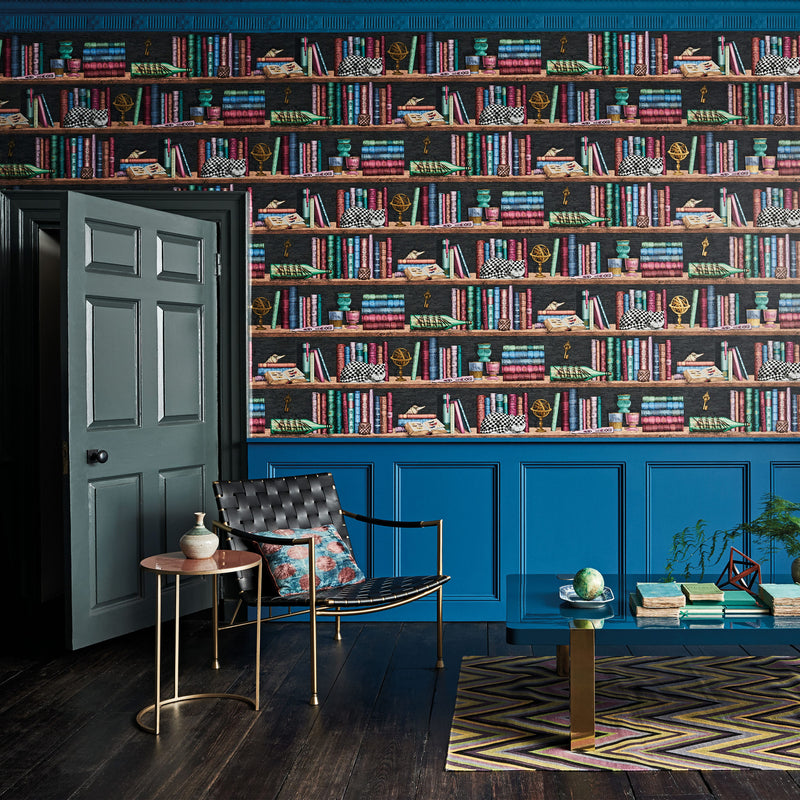 Cole and Son Fornasetti Libreria Wallpaper 114/13025 Roomset