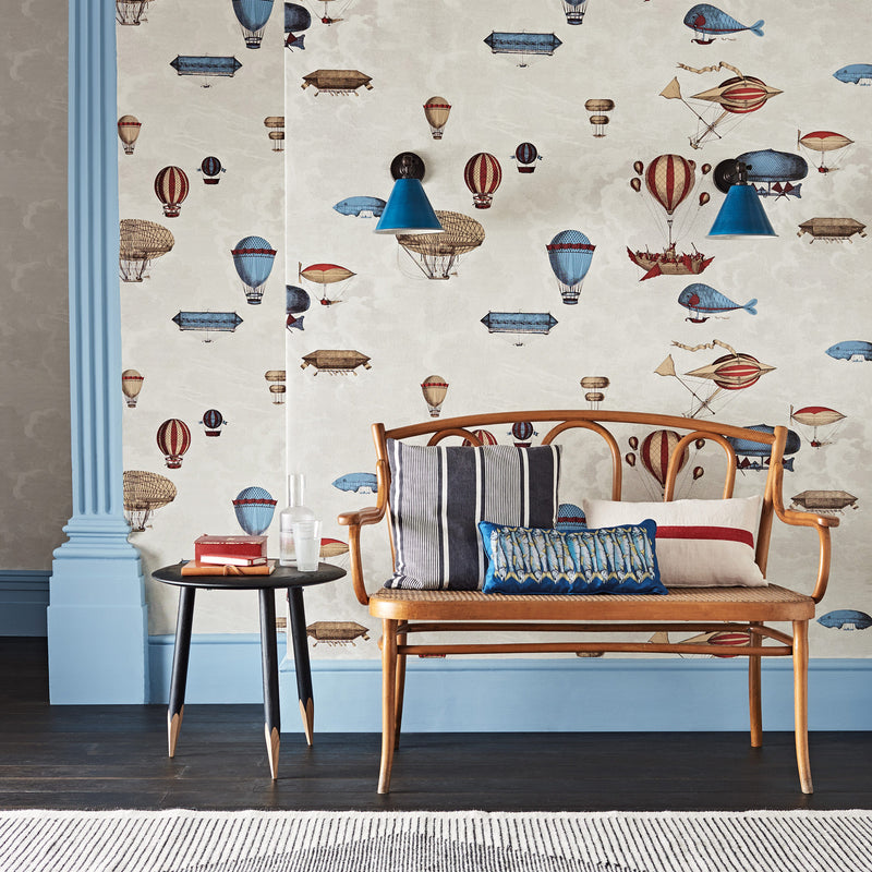 Cole and Son Fornasetti 'Macchine Volanti' Wallpaper 114/10020 Roomset