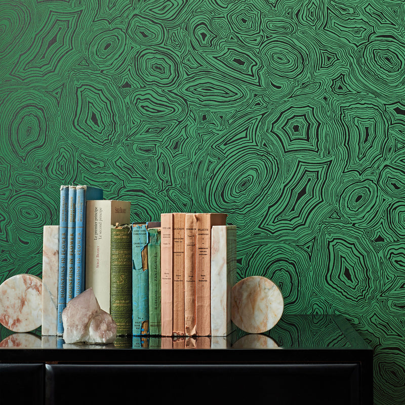 Cole and Son Fornasetti 'Malachite' Wallpaper 114/17035 Roomset