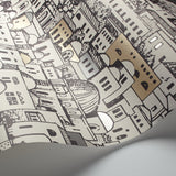 Cole and Son x Fornasetti 'Mediterranea' Wallpaper 114/7013 Detail