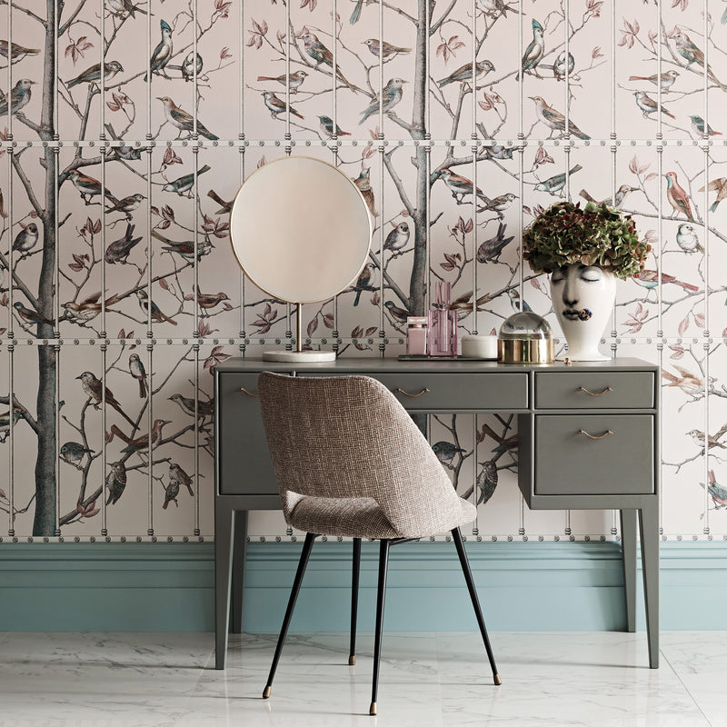Cole and Son Fornasetti 'Uccelli' Wallpaper 114/11022 Roomset
