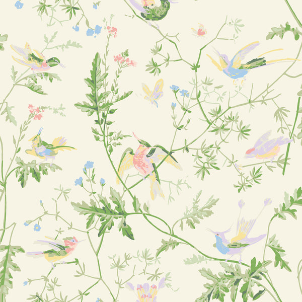 Cole & Son 'Hummingbirds' Silk Fabric F111/1002