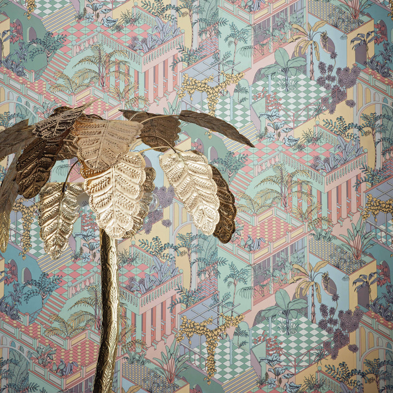 Cole and Son 'Miami' Wallpaper Pastel 112/6023 Roomset Detail