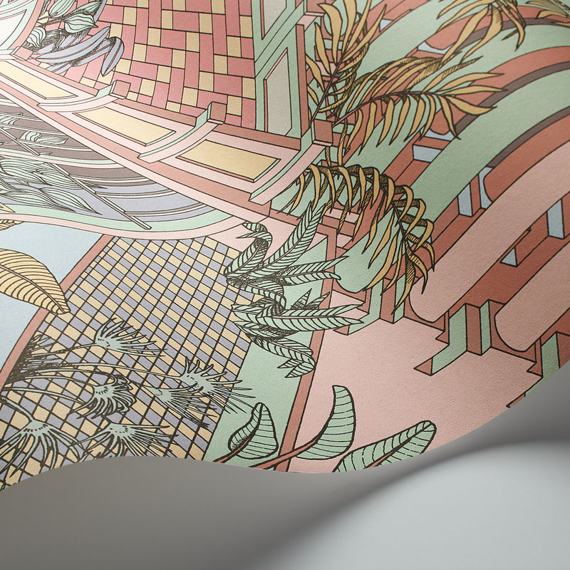 Cole and Son 'Miami' Wallpaper Pastel 112/6023 Detail