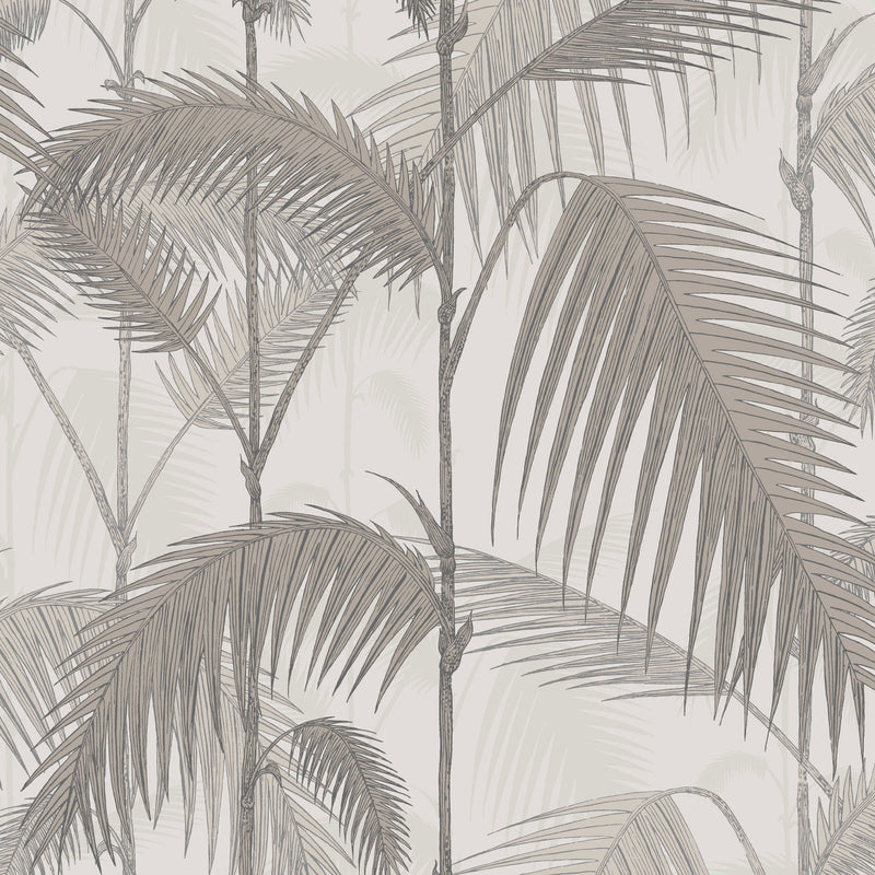 Cole and Son Palm Jungle Wallpaper Stone & Taupe 112/1004