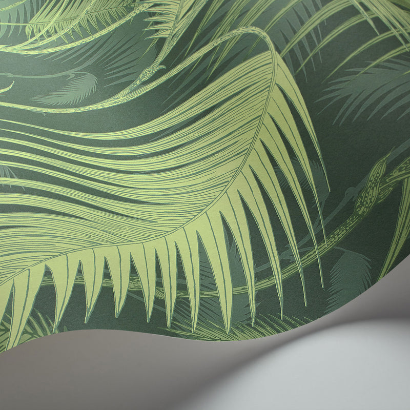 Cole and Son Palm Jungle Wallpaper Forest Green 112/1003 Detail