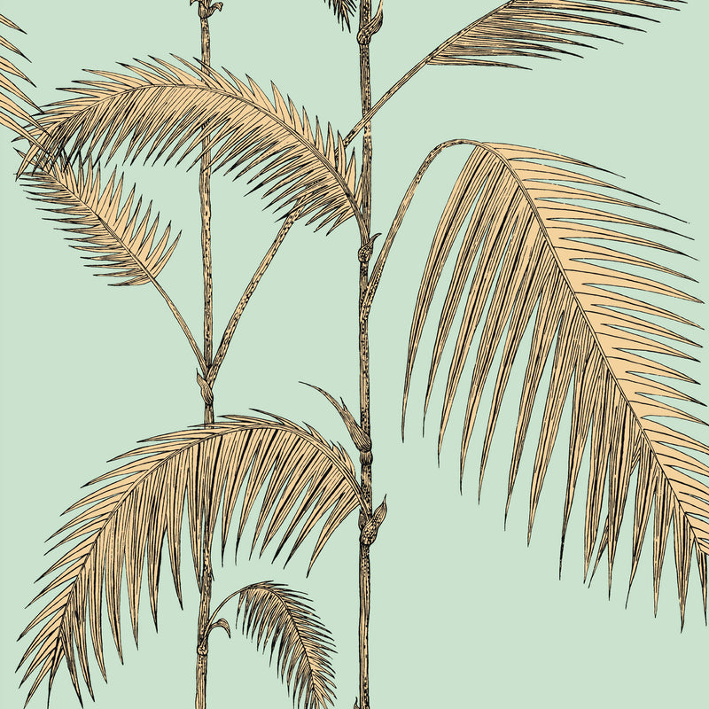 Cole and Son 'Palm Leaves' Wallpaper Mint & Sand 112/2006