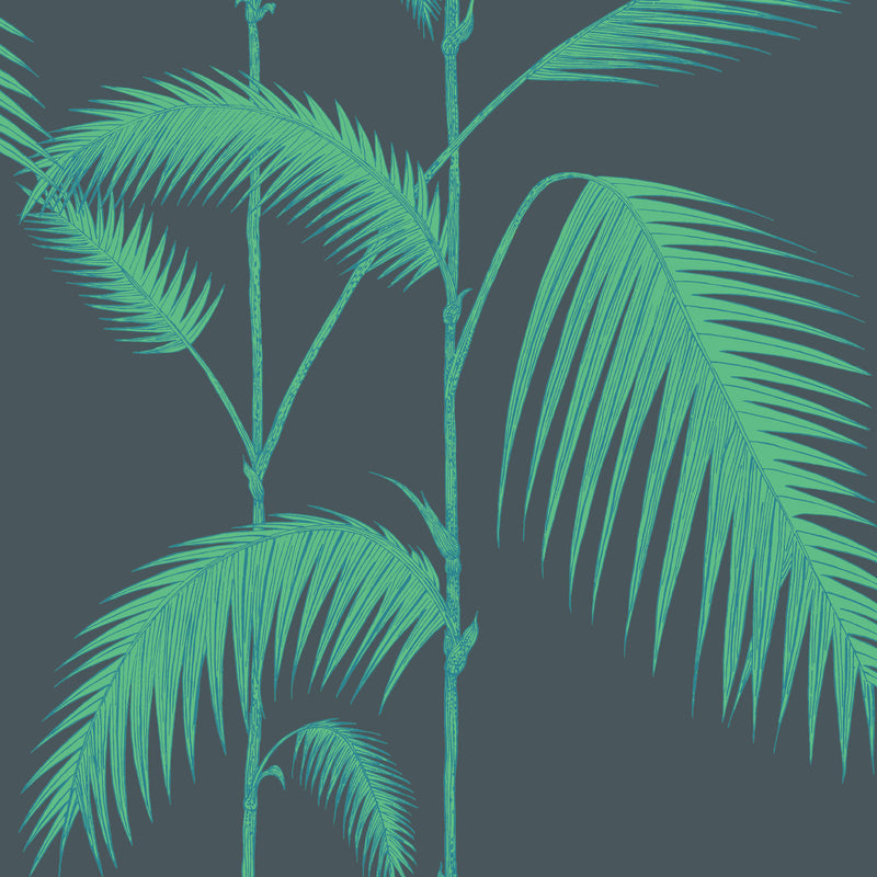 Cole and Son 'Palm Leaves' Wallpaper Viridian 112/2007