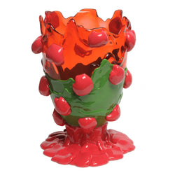 Corsi Design 'Nugget Extra Colour' Vase Large - Clear Ruby, Matt Green, Fuchsia