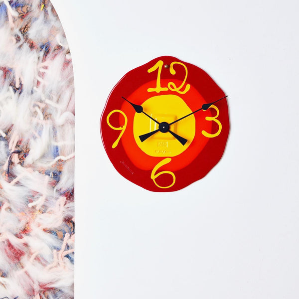 Corsi Design 'Watch Me' Clock - Matt Red, Orange, Yellow Roomset