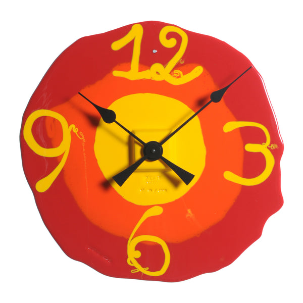 Corsi Design 'Watch Me' Clock - Matt Red, Orange, Yellow