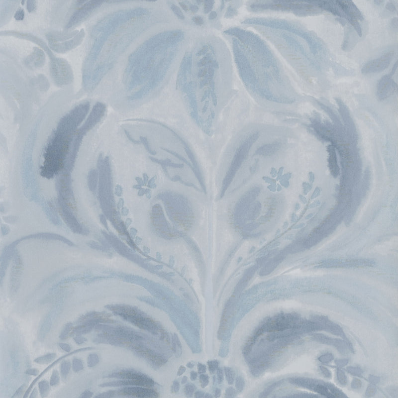 Designers Guild 'Angelique Damask' Wallpaper Indigo