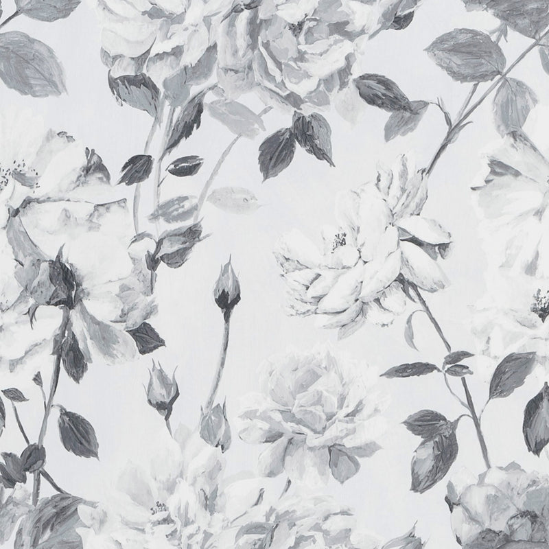 Designers Guild 'Couture Rose' Wallpaper Noir