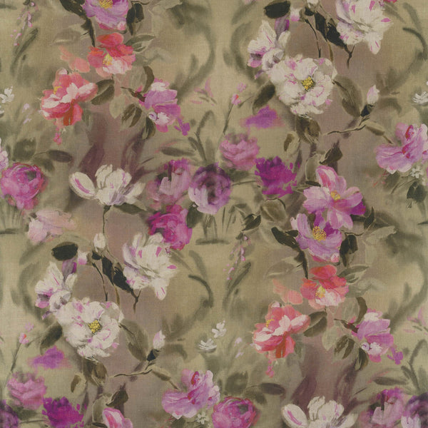 Designers Guild 'Damask Flower' Fabric Damson