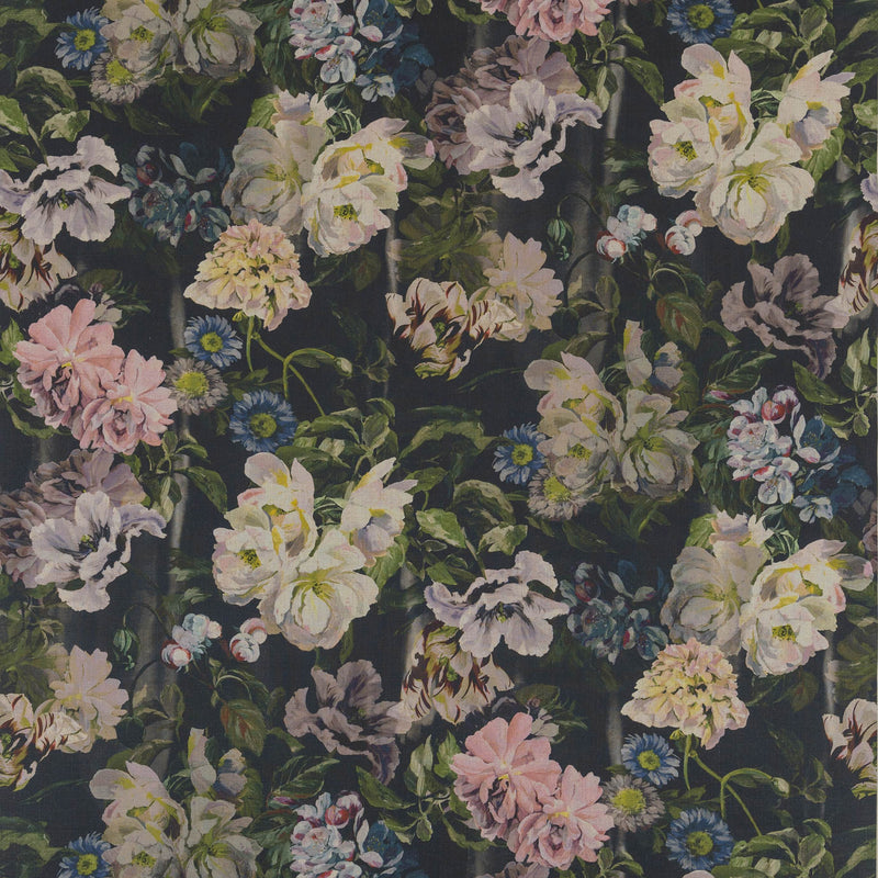 Designers Guild 'Delft Flower' Fabric Graphite