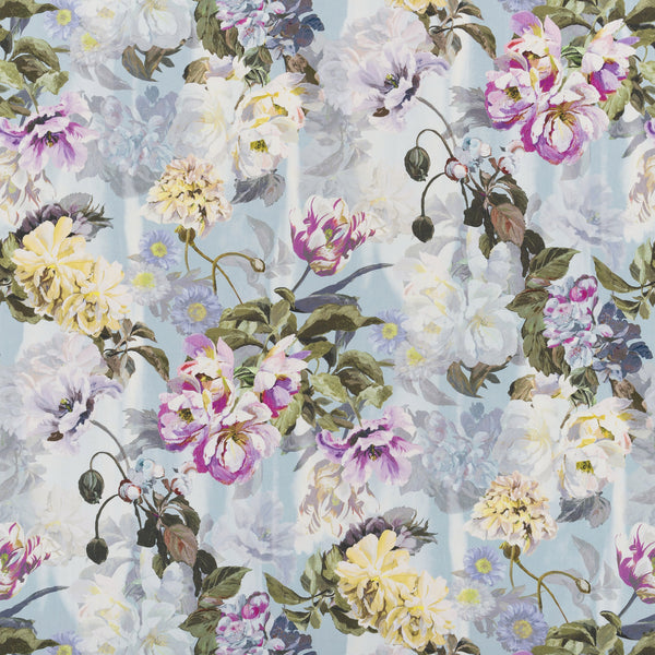 Designers Guild 'Delft Flower' Fabric Sky