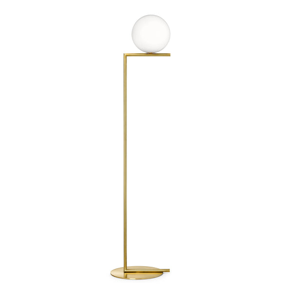 Flos IC F1 Floor Lamp by Michael Anastassiades Brass
