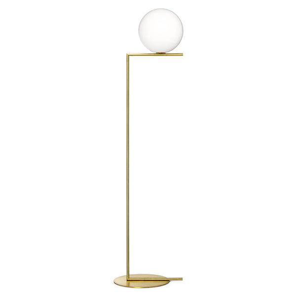 Floss IC F2 Floor Lamp by Michael Anastassiades Brass