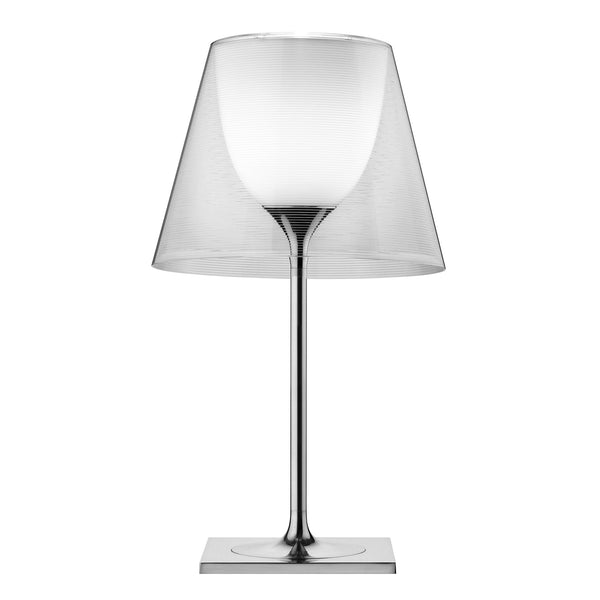 Flos KTribe T2 Table Lamp by Philippe Starck Transparent On