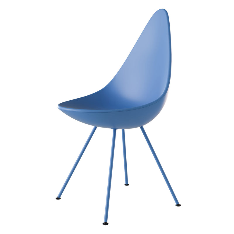Fritz Hansen 'Drop' Chair - Monochrome 2019 If In Doubt Blue Side