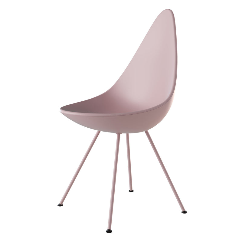 Fritz Hansen 'Drop' Chair - Monochrome 2019 Millennial Pink Side
