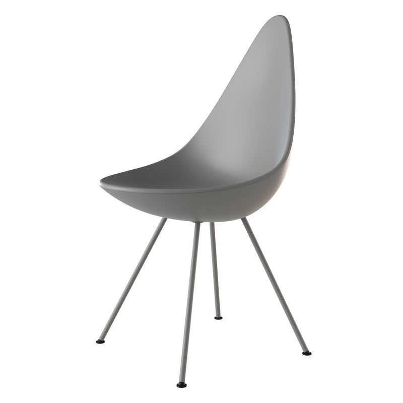Fritz Hansen 'Drop' Chair - Monochrome 2019 Nine Grey Side