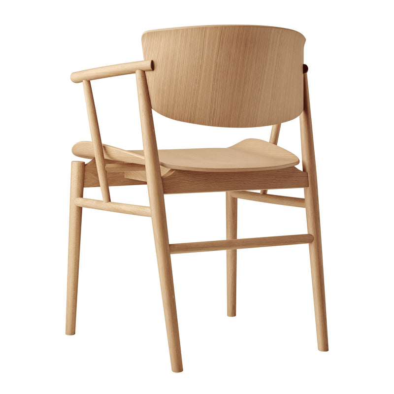 Fritz Hansen 'N01 Armchair' by Nendo Oak Back