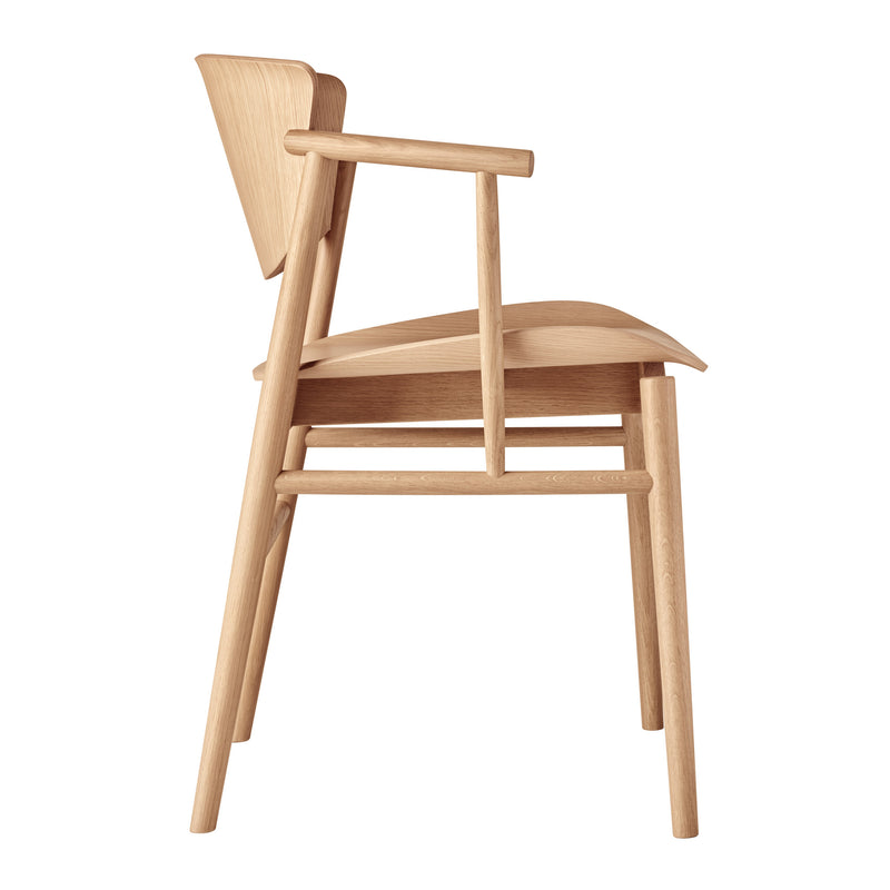 Fritz Hansen 'N01 Armchair' by Nendo Oak Side