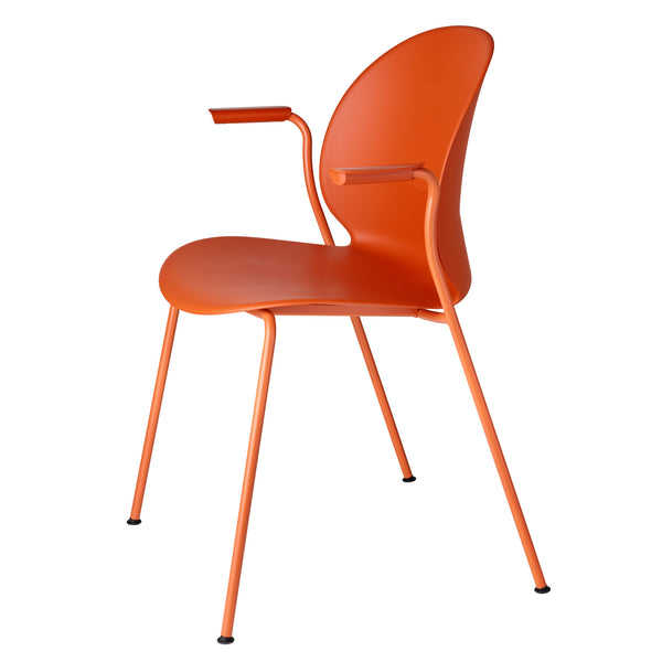 Fritz Hansen N02-11 Recycle Chair - With Arms by Nendo Dark Orange