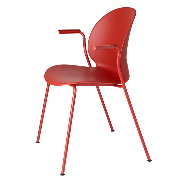 Fritz Hansen N02-11 Recycle Chair - With Arms by Nendo Dark Red