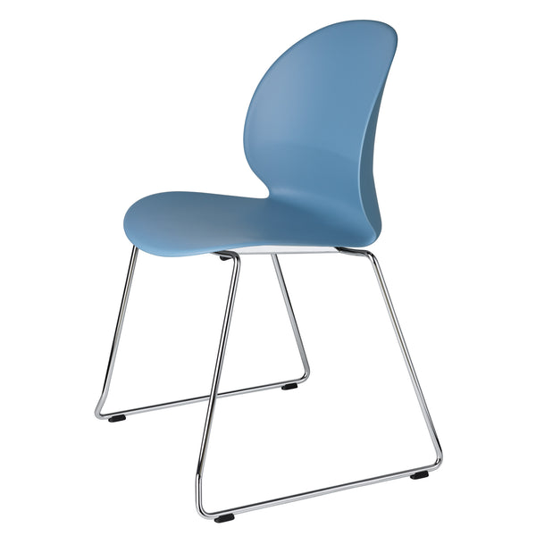 Fritz Hansen N02-20 Recycle Chair - Sled Base by Nendo Light Blue