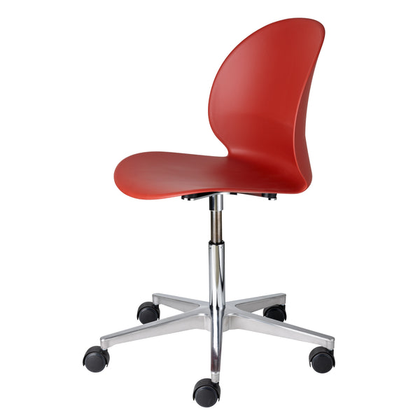 Fritz Hansen N02-30 Recycle Chair - Swivel Base by Nendo Dark Red